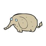 elefante triste del fumetto comico piccolo Fotografie Stock Libere da Diritti