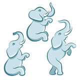 Elefante in varie pose royalty illustrazione gratis