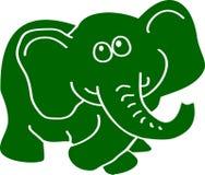 Elefante verde Fotografia Stock Libera da Diritti