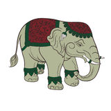 Elefante verde vector.EPS10 illustrazione di stock