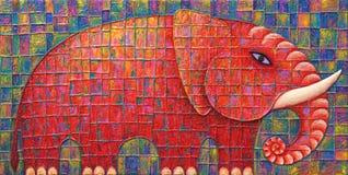 Elefante vermelho Fotografia de Stock
