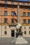 Elefante y obelisco del artista italiano Bernini en de la plaza foto de archivo libre de regalías