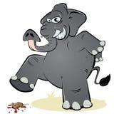 Elefante y ratón Foto de archivo