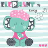 Elefanten behandla som ett barn vektorillustrationen Arkivbild
