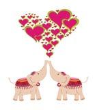 Elefanten, die Liebe feiern Lizenzfreie Stockfotografie