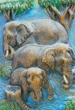 Elefanten geschnitzt Lizenzfreie Stockbilder