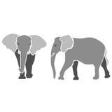 Elefanten im Grau vektor abbildung