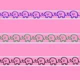 Elefanten kopieren auf rosa Zusammenfassung vektor abbildung