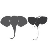 Elefanten och musen Arkivbilder