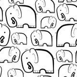 Elefanten. Schwarzweiss Stock Abbildung