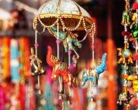 Elefanter i marknad Arkivbilder