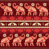 elefanter mönsan seamless Arkivfoton