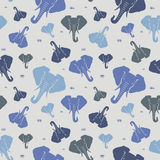 elefanter seamless modell _ Royaltyfria Bilder
