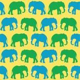 Elefantes coloreados Imagen de archivo libre de regalías
