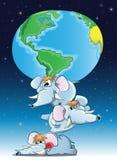 Elefantes con Earts Imagen de archivo