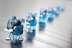 Elefantes de cristal Imagen de archivo libre de regalías