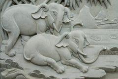 Elefantes de pedra Imagem de Stock Royalty Free