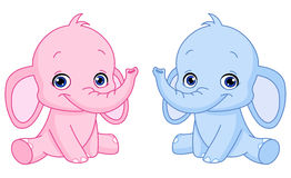 Elefantes del bebé Imagen de archivo