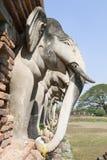 Elefantes del templo antiguo de Tailandia foto de archivo
