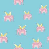 Elefantes do vôo sem emenda Fotografia de Stock