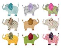Elefantes.  El acolchar de Digitaces Imágenes de archivo libres de regalías