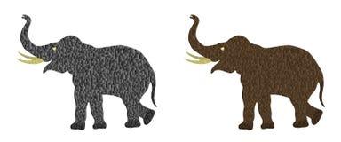 Elefantes manchados Imagen de archivo libre de regalías