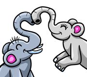 Elefantes no amor Fotos de Stock Royalty Free