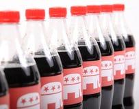 Elefantes republicanos en las botellas de la bebida Imagen de archivo libre de regalías