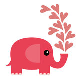 elefantförälskelse Arkivfoton