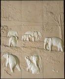Elefantfamiljen Fotografering för Bildbyråer