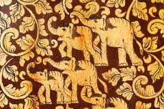 Elefantfamiljmodell arkivfoto