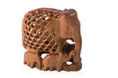 elefantfamiljstatuette Royaltyfri Foto