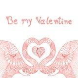 Elefantgekritzel Valentinsgrußkarte Stockbilder