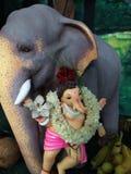 Elefantgud Ganesh royaltyfria foton