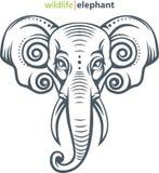 Elefanthauptsymbol Lizenzfreie Stockfotos