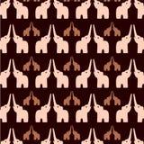 Elefanthintergrund Stock Abbildung