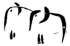 Elefanti. Immagini Stock Libere da Diritti