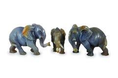 Elefanti dall'agata. Fotografia Stock