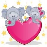 Elefanti degli amanti Fotografie Stock Libere da Diritti