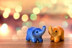 Elefanti della porcellana Fotografia Stock