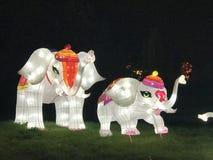 Elefanti delle luci della Cina fotografia stock libera da diritti