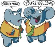 Elefanti di conversazione Immagini Stock Libere da Diritti