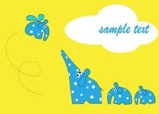 Elefanti di disegno Fotografie Stock Libere da Diritti