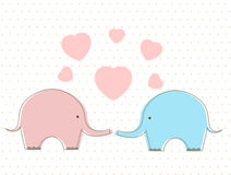 Elefanti svegli con cuore royalty illustrazione gratis