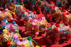 Elefanti tradizionali etnici Immagini Stock Libere da Diritti