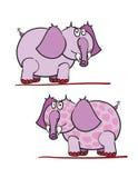 Elefanti viola Immagine Stock Libera da Diritti