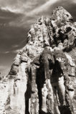 Elefantköpfe am Gatter zu Angkor Thom Stockbild