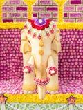 Elefantkunst wird von den Samen des indischen Sesams gemacht (Blumen-Festival, Thailand) Stockbilder