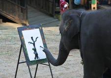 Elefantmålning royaltyfri bild