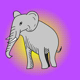 Elefantpop-arten-Vektorillustration Lizenzfreies Stockfoto